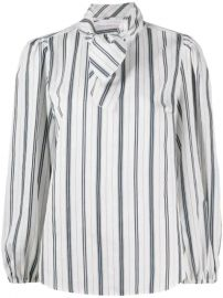 See By Chlo   Striped pussy-bow Blouse - Farfetch at Farfetch