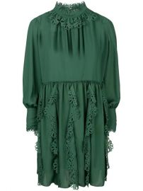 See By Chlo  233  Laser Cut Trim Dress - Farfetch at Farfetch