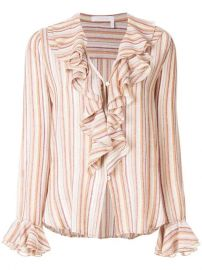 See By Chlo  233  Striped Ruffle Blouse - Farfetch at Farfetch