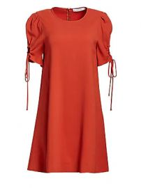 See by Chlo   - Ruched Sleeve Shift Dress at Saks Fifth Avenue