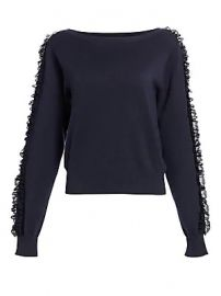 See by Chlo   - Ruffle Sleeve Knit Sweater at Saks Fifth Avenue