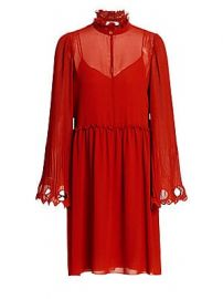 See by Chlo   - Ruffled Collar Bell Sleeve Georgette Shirtdress at Saks Fifth Avenue