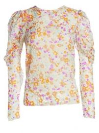 See by Chlo   - Velvet Burnout Floral Blouse at Saks Fifth Avenue