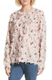 See by Chlo   Feather Jacquard Blouse at Nordstrom