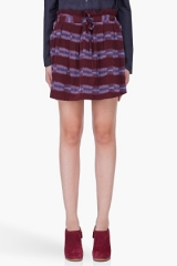 See by Chloe Burgundy Drawstring Skirt at SSENSE