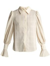 See by Chloe Checked flared-cuff shirt at Matches