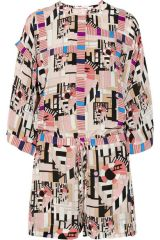 See by Chloe Geometric Printed Playsuit at Net A Porter