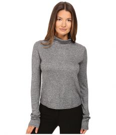 See by Chloe Jersey Turtleneck with Sheer Back Grey at 6pm