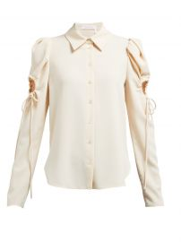 See by Chloe Puff sleeved cut-out crepe blouse at Matches