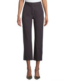 See by Chloe Striped Straight-Leg Trousers at Neiman Marcus