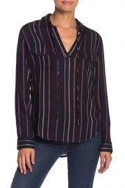 Selena Drawstring Stripe Shirt by Rails at Nordstrom Rack