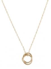 Selena Gold Circle Necklace  at Peggy Li
