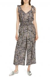 Selene Paisley Silk Jumpsuit by Rebecca Taylor at Nordstrom