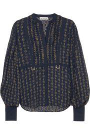 Self-Portrait - Fil coup   chiffon blouse at Net A Porter