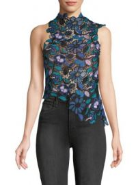Self Portrait - Floral Cropped Top at Saks Off 5th
