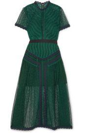 Self-Portrait - Guipure lace midi dress at Net A Porter