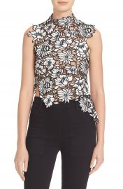 Self-Portrait  Lily  Guipure Lace Top at Nordstrom
