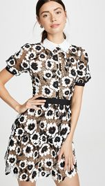 Self Portrait Abstract Floral Guipure Mini Dress at Shopbop