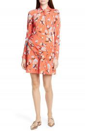 Self-Portrait Floral Long Sleeve Jersey Crepe Minidress   Nordstrom at Nordstrom