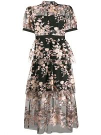 Self-Portrait Floral Sequin Embellished Dress - Farfetch at Farfetch