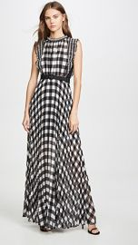 Self Portrait Gingham Printed Chiffon Dress at Shopbop
