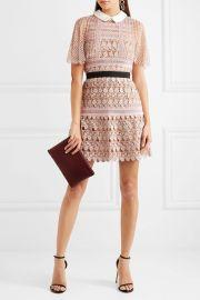 Self Portrait Guipure lace mini dress at Net A Porter