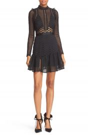 Self-Portrait Hall Lace Mesh Minidress at Nordstrom