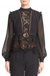 Self-Portrait Lace Detail Top at Nordstrom