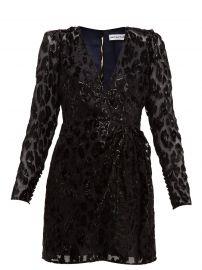 Self Portrait Leopard-devore mini dress at Matches