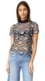 Self Portrait Peony Short Sleeve Top at Shopbop