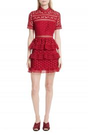 Self-Portrait Ruffle Star Lace Dress at Nordstrom
