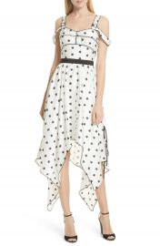 Self-Portrait Star Print Handkerchief Hem Dress at Nordstrom
