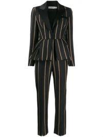 Self-Portrait Tailoring Stripe Jumpsuit - Farfetch at Farfetch