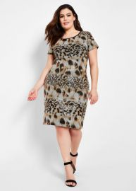 Sequin Animal Print Dress by Ashley Stewart  at Ashley Stewart