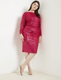 Sequin Dolman Sleeve Dress at Eloquii