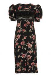 Sequin Floral Print Midi Shift Dress - Dresses - Clothing at Topshop