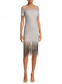 Sequin Fringe Hem Sheath Dress at Saks Fifth Avenue