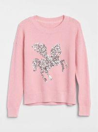 Sequin Graphic Sweater at Gap