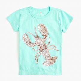 Sequin Lobster T-shirt at J.Crew
