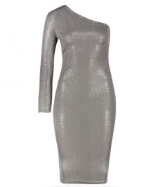 Sequin One Shoulder Midi Dress at Boohoo
