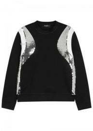 Sequin-Panelled Jersey Sweatshirt by Dsquared2 at Selfridges