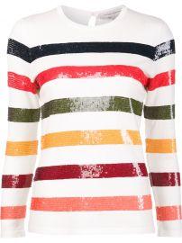 Sequin Striped Jumper by Carolina Herrera at Farfetch