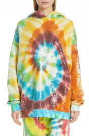 Sequin Tie Dye Rainbow Hoodie at Nordstrom