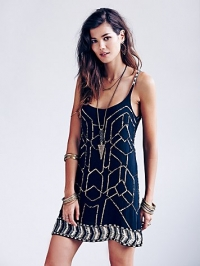 Sequin shift dress at Free People