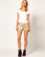 Sequin shorts at Asos