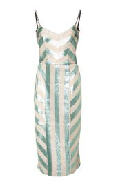 Sequin stripe dress at Moda Operandi
