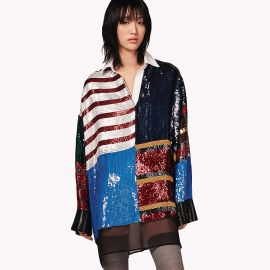 Sequined Rugby Stripe Dress by Tommy Hilfiger at Tommy Hilfiger