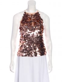 Sequined Sleeveless Top at The Real Real