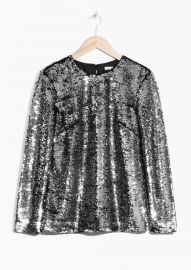 Sequined Top by & Other Stories at & Other Stories
