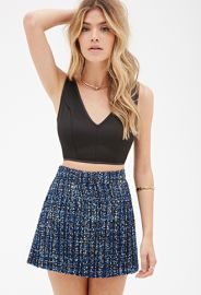Sequined Tweed Skirt  Forever 21 - 2000117626 at Forever 21